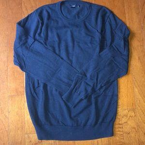 Navy crew neck sweater for j.crew